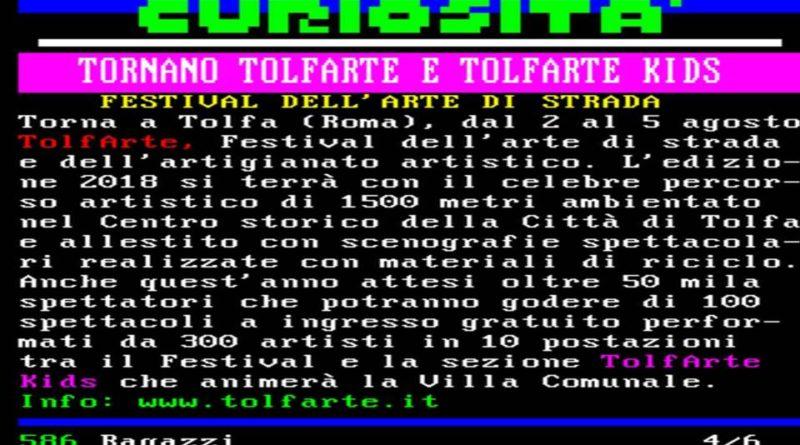 tv_Festival TolfArte TELEVIDEO RAI