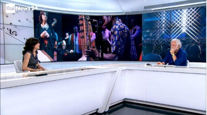 Maria Pia De Vito in studio a Rainews24