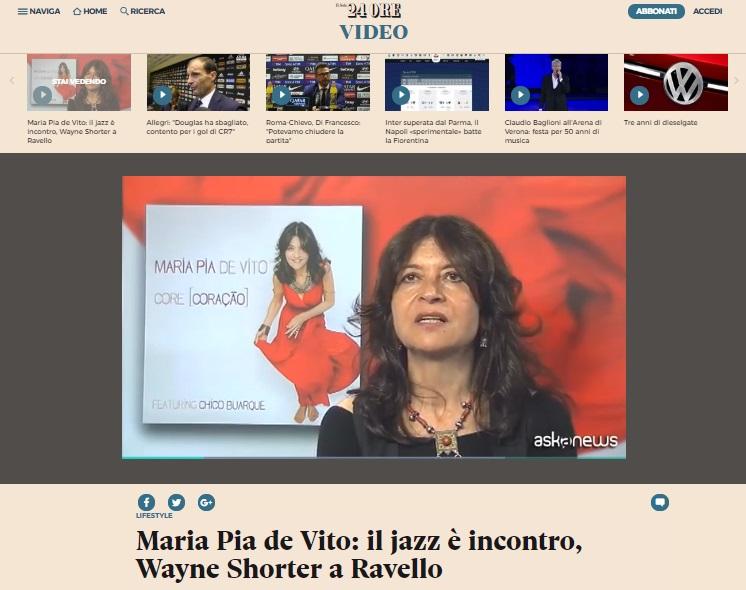 web_IL SOLE 24 ORE MARIA PIA DE VITO WAYNE SHORTER